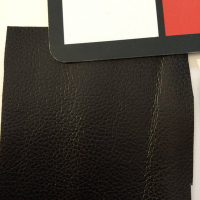 1.8 Yard Piece of Faux Leather Vinyl Fabric   Two Toned Deepest Brown   Felt-Backed   Upholstery / Bag Making   54 Wide