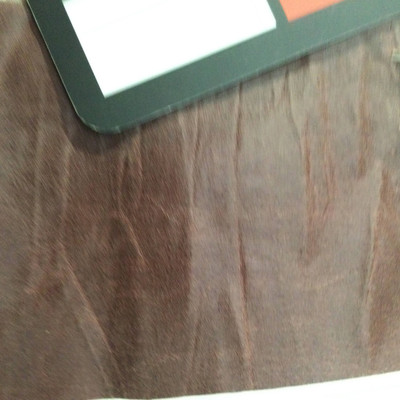 2.8 Yard Piece of Faux Leather Vinyl Fabric   Lightweight Cherrywood Brown Wrinkled Texture   Upholstery / Bag Making   54 Wide