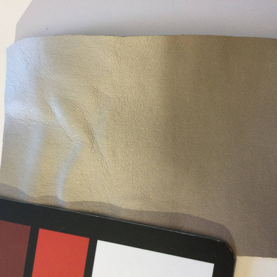 3.6 Yard Piece of Faux Leather Vinyl Fabric | Pearl Beige | Upholstery / Bag Making | 54 Wide
