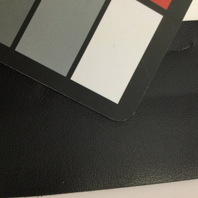 1.3 Yard Piece of Faux Leather Vinyl Fabric | Black Light Grain | Upholstery / Bag Making | 54 Wide