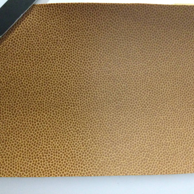 4.1 Yard Piece of Faux Leather Vinyl Fabric | Two Toned Brown | Upholstery / Bag Making | 54 Wide