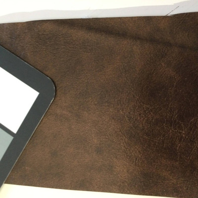 3.2 Yard Piece of Faux Leather Vinyl Fabric | Bronze Brown Medium Grain | Felt-Backed | Upholstery / Bag Making | 54 Wide