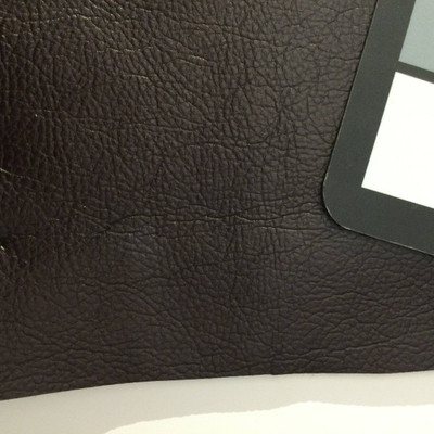 3 Yard Piece of Faux Leather Vinyl Fabric | Deep Brown Heavy Grain | Upholstery / Bag Making | 54 Wide