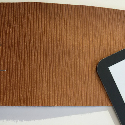 5.4 Yard Piece of Vinyl Fabric | Orange Wavy Texture | Upholstery / Bag Making | 54 Wide