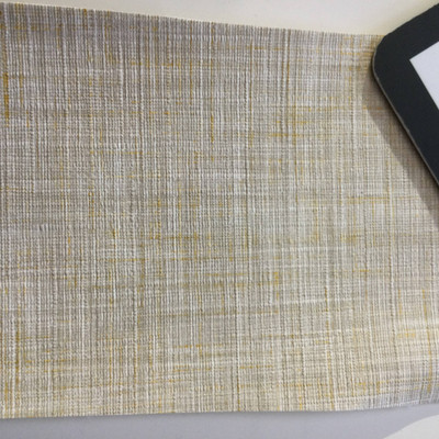 5.8 Yard Piece of Vinyl Fabric | Beige Woven Texture | Upholstery / Bag Making | 54 Wide