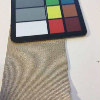 6.3 Yard Piece of Satin Finish Vinyl Fabric | Golden Tan Diagonal Stripes | Upholstery / Bag Making | 54 Wide