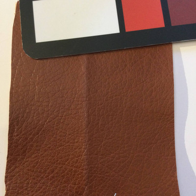 6.5 Yard Piece of Faux Leather Vinyl Fabric   Burnt Orange Brown   Upholstery / Bag Making   54 Wide