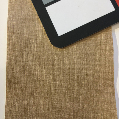 4.8 Yard Piece of Vinyl Fabric | Tan Woven Texture | Upholstery / Bag Making | 54 Wide