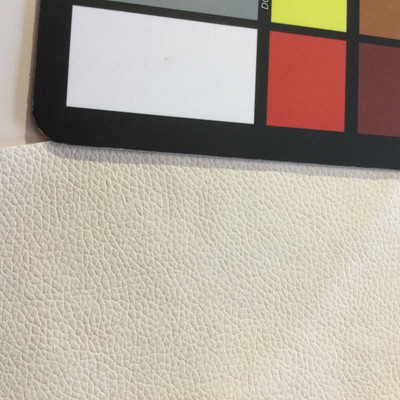 6.4 Yard Piece of Faux Leather Vinyl Fabric | Off White Medium Grain | Felt-Backed | Upholstery / Bag Making | 54 Wide
