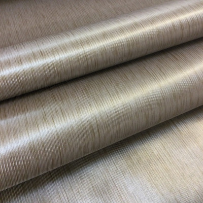 5.8 Yard Piece of Vinyl Fabric   Bronze Striped Texture   Felt-Backed   Upholstery / Bag Making   54 Wide