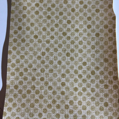 3.4 Yard Piece of Vinyl Fabric   Two Toned Tan Dotted Pattern   Felt-Backed   Upholstery / Bag Making   54 Wide