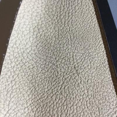 4.9 Yard Piece of Faux Leather Vinyl Fabric | Beige Heavy Grain | Felt-Backed | Upholstery / Bag Making | 54 Wide