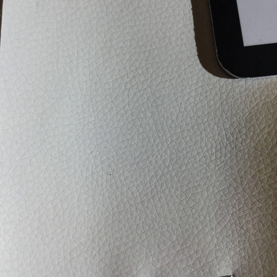 3.3 Yard Piece of Faux Leather Vinyl Fabric | Off White Medium Grain | Upholstery / Bag Making | 54 Wide