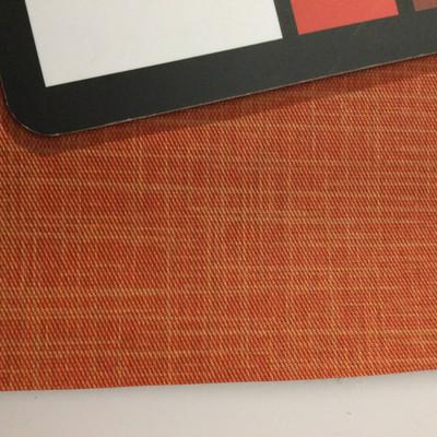 4.1 Yard Piece of Vinyl Fabric   Two Toned Reddish Orange   Upholstery / Bag Making   54 Wide