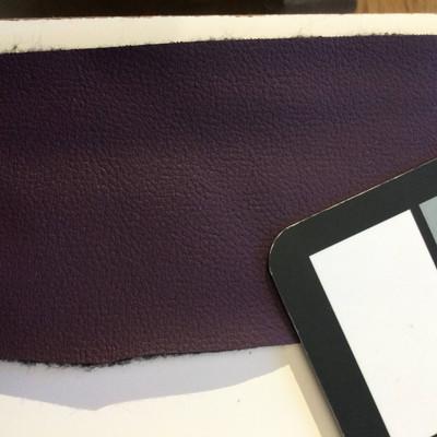 1.8 Yard Piece of Faux Leather Vinyl Fabric   Plum Purple Light Grain   Felt-Backed   Upholstery / Bag Making   54 Wide