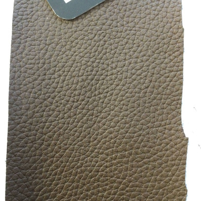 6.4 Yard Piece of Faux Leather Vinyl Fabric | Dark Brown Heavy Grain | Upholstery / Bag Making | 54 Wide
