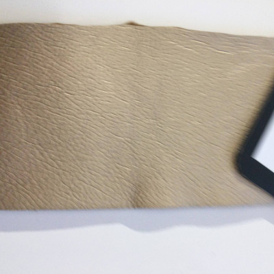 4.3 Yard Piece of Faux Leather Vinyl Fabric | Light Gold Heavy Grain | Felt-Backed | Upholstery / Bag Making | 54 Wide