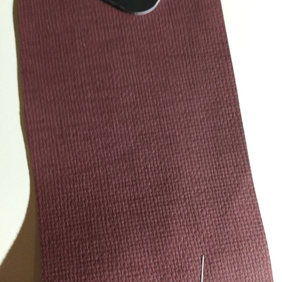 3.8 Yard Piece of Vinyl Fabric | Burgundy Woven Texture | Upholstery / Bag Making | 54 Wide