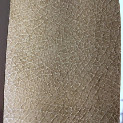 4.8 Yard Piece of Faux Leather Vinyl Fabric   Tan Heavy Grain   Upholstery / Bag Making   54 Wide
