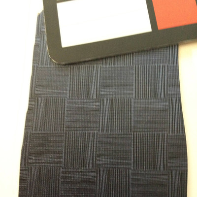 2.8 Yard Piece of Vinyl Fabric | Two Toned Blue Sketched Grid Design | Felt-Backed | Upholstery / Bag Making | 54 Wide