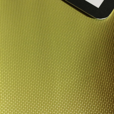 4.5 Yard Piece of Vinyl Fabric | Golden Chartreuse Woven Texture | Felt-Backed | Upholstery / Bag Making | 54 Wide