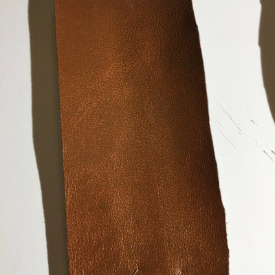 5.5 Yard Piece of Faux Leather Vinyl Fabric | Copper Medium Grain | Felt-Backed | Upholstery / Bag Making | 54 Wide