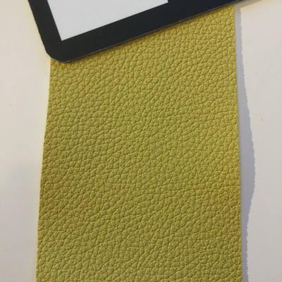 3.5 Yard Piece of Faux Leather Vinyl Fabric | Chartreuse Heavy Grain | Upholstery / Bag Making | 54 Wide