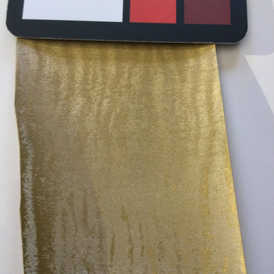3.8 Yard Piece of Satin Finish Vinyl Fabric | Gold Moire | Felt-Backed | Upholstery / Bag Making | 54 Wide