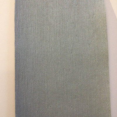 6.3 Yard Piece of Satin Finish Vinyl Fabric   Sage Green Woven Texture   Felt-Backed   Upholstery / Bag Making   54 Wide