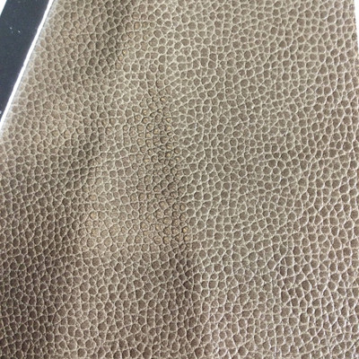 3.8 Yard Piece of Faux Leather Vinyl Fabric   Taup Medium Grain   Upholstery / Bag Making   54 Wide