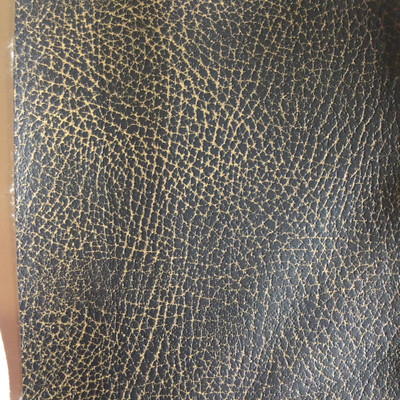 5.3 Yard Piece of Faux Leather Vinyl Fabric | Two Toned Dark Brown Medium Grain | Upholstery / Bag Making | 54 Wide