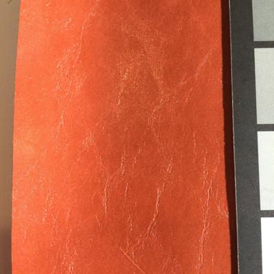 5 Yard Piece of Faux Leather Vinyl Fabric   Glossy Burnt Orange   Felt-Backed   Upholstery / Bag Making   54 Wide