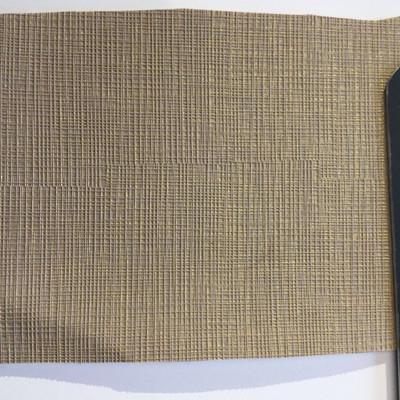 5.8 Yard Piece of Vinyl Fabric | Golden Tan Woven Texture | Felt-Backed | Upholstery / Bag Making | 54 Wide