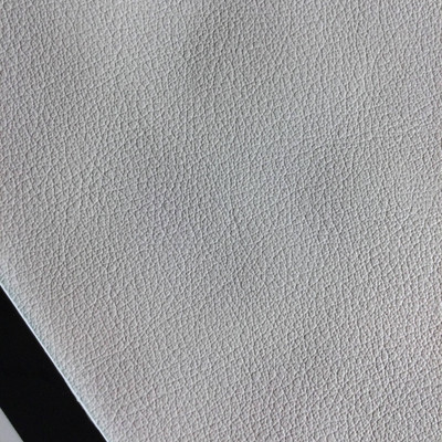 3.8 Yard Piece of Faux Leather Vinyl Fabric | White Light Grain | Felt-Backed | Upholstery / Bag Making | 54 Wide