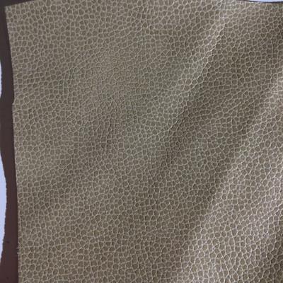 5.3 Yard Piece of Faux Leather Vinyl Fabric | Light Tan Medium Grain | Felt-Backed | Upholstery / Bag Making | 54 Wide