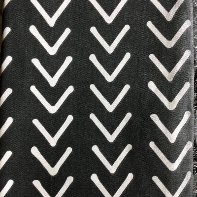 Striped Arrows Black / White | Home Decor Fabric | Premier Prints | 54 Wide | By the Yard