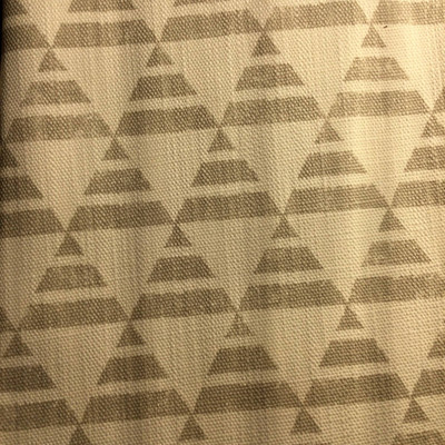 Triangle Geometric White / Lt Gray   Home Decor Fabric   Premier Prints   54 Wide   By the Yard