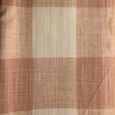 3-inch Check Plaid Dusty Rose / White | Home Decor Fabric | Premier Prints | 54 Wide | By the Yard