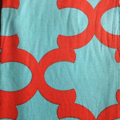 Moroccan Tile Quatrefoil  Red / Blue | Home Decor Fabric | Premier Prints | 54 Wide | By the Yard