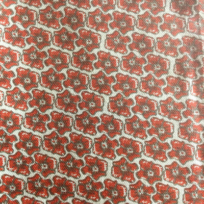 Retro Floral Red / Gray | Home Decor Fabric | Premier Prints | 54 Wide | By the Yard