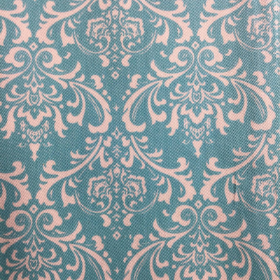 Elegant Damask Blue Turquoise / White | Home Decor Fabric | Premier Prints | 54 Wide | By the Yard