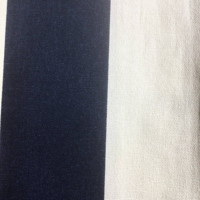 Vertical Stripes Navy Blue / Off White   Home Decor Fabric   Premier Prints   54 Wide   By the Yard