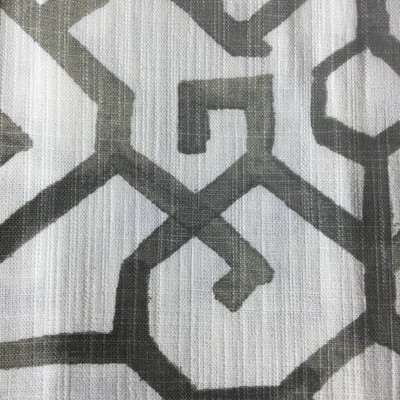 Watercolor Lattice Gray / White | Home Decor Fabric | Premier Prints | 54 Wide | By the Yard