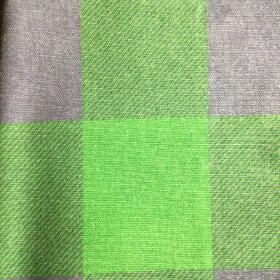 3-inch Check Plaid Green / Blue   Home Decor Fabric   Premier Prints   54 Wide   By the Yard