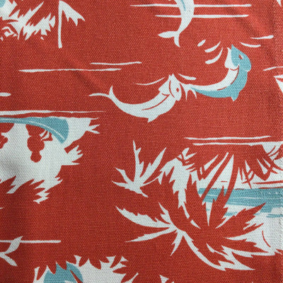 Tropical Sailboats Red / White | Home Decor Fabric | Premier Prints | Nautical | 54 Wide | By the Yard