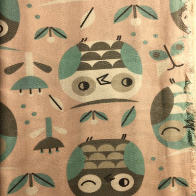 Owls in Pink / Blue / Gray | Home Decor Fabric | Premier Prints | 54 Wide | By the Yard