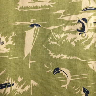 Tropical Sailboats Green / Blue   Home Decor Fabric   Premier Prints   Nautical   54 Wide   By the Yard