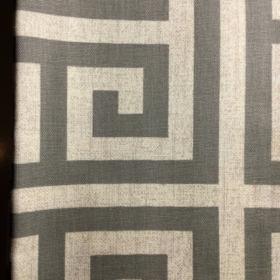 Greek Key Gray / Light Taupe   Home Decor Fabric   Premier Prints   54 Wide   By the Yard