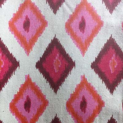 Ikat Diamonds Pink / Flecked White   Home Decor Fabric   Premier Prints   54 Wide   By the Yard