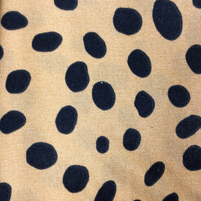 Orange / Black Dots | Indoor / Outdoor Home Decor Fabric | Premier Prints | 54 Wide | By the Yard